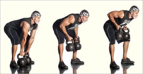 Kettlebell Back rows. Kettlebell Workshop. Kettlebell training. Kettlebell moves. Resistance training. Endurance training. Cardio training.
