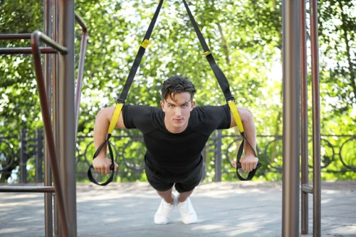 Trx exercise. trx chest. Self discipline. Pushing yourself quotes. Motivation exercise.