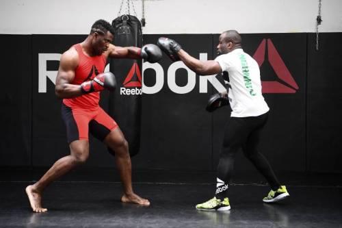 Francis Ngannou. Fernand Lopez. MMA Factory. Paris. France.