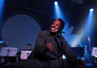 Eugene Robinson performing with Oxbow Orchestra