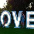 Gigantic LED Love Sign