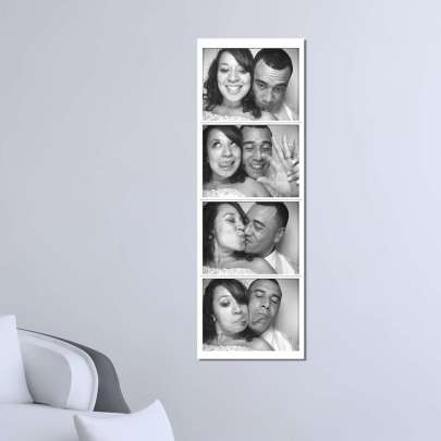 "A ""Ready to Hang"" 20cm x 80cm canvas print of your favourite photo-strips post event. A unique momento of that special night"