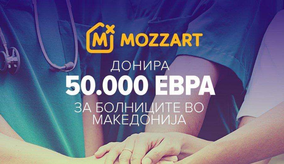 MOZZART со донација од 5.000 евра за Општата болница во Дебар