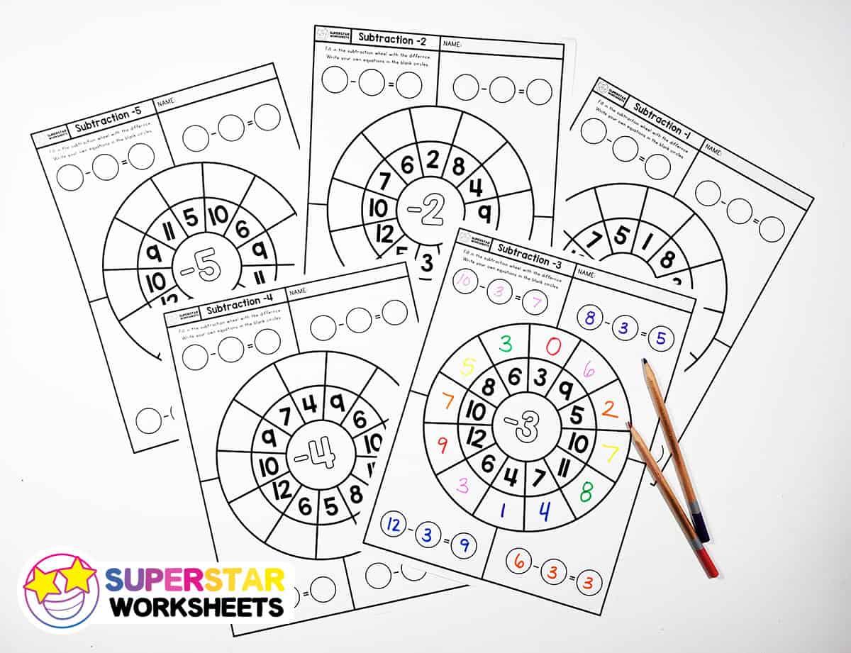 Subtraction Wheels