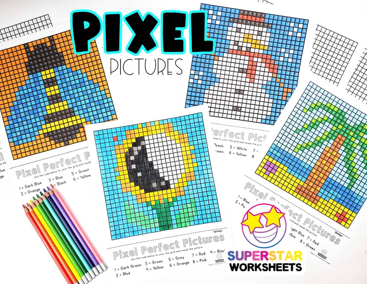 Pixel Coloring Pages
