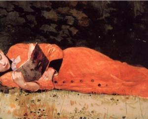 The New Novel,  Winslow Homer, 1877