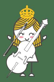 cello girl icon of SuperStrings Studio