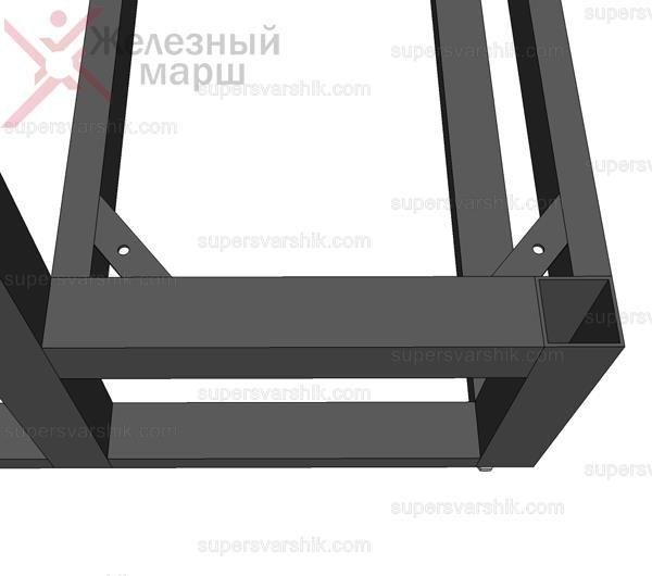Металлический каркас для уличной лестницы в дом
