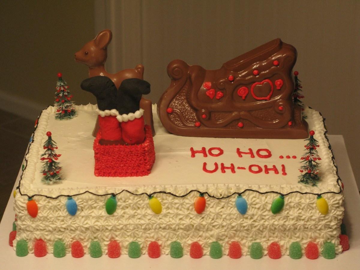 """""""Ho Ho...Uh Oh!""""  Christmas Cake"""