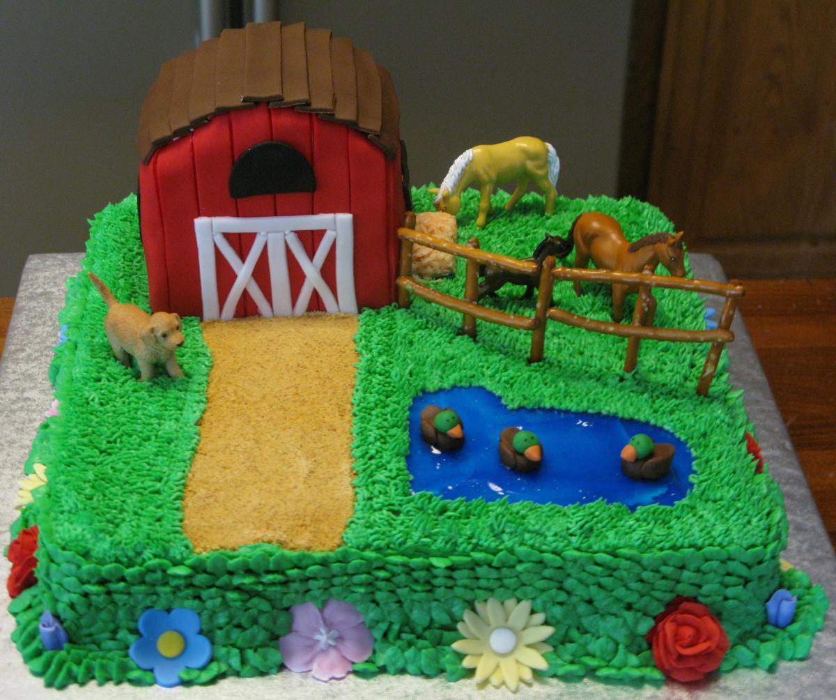 Horse Farm Cake Super Sweet Tooth