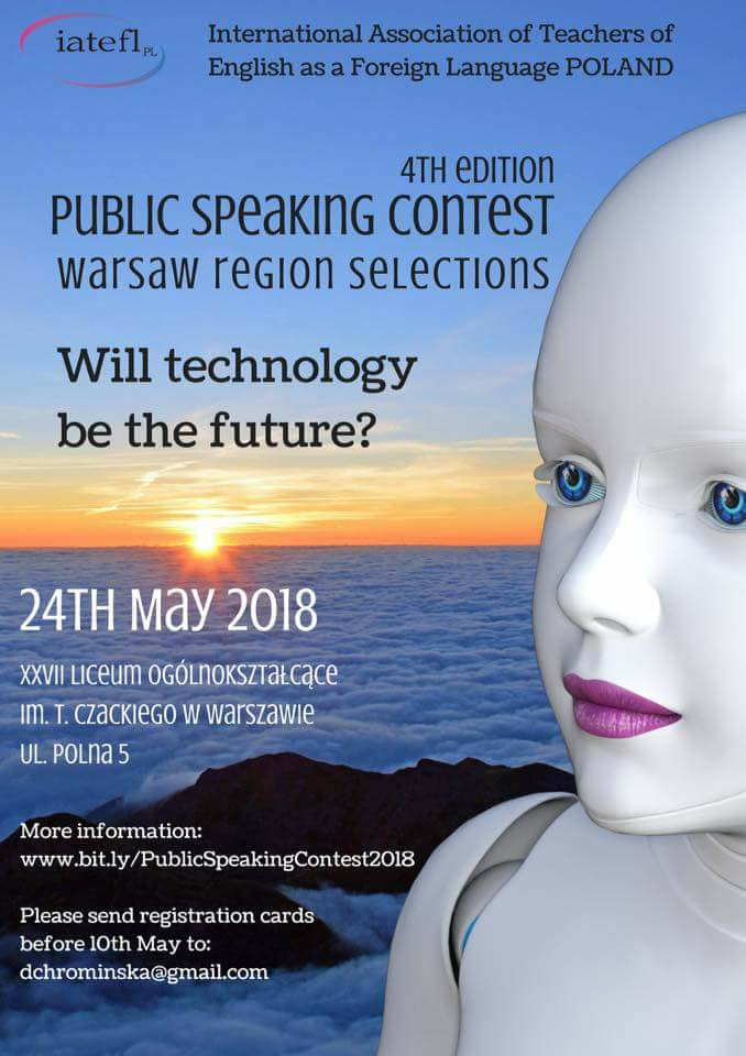 Public Speaking Contest 2018 – Warsaw Selections – 24th May 2018