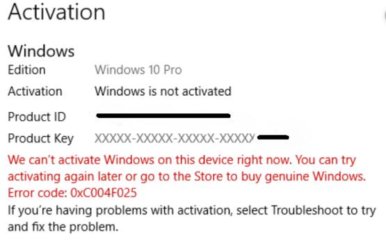 Error 0xC004F025
