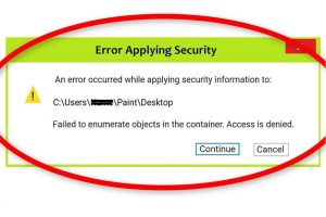 failed to enumerate objects in the container access is denied