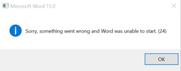 Word Error 24