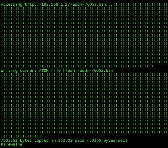 Successful Cisco TFTP File Upload