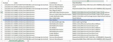 Exchange Admin Audit Log Export-CSV