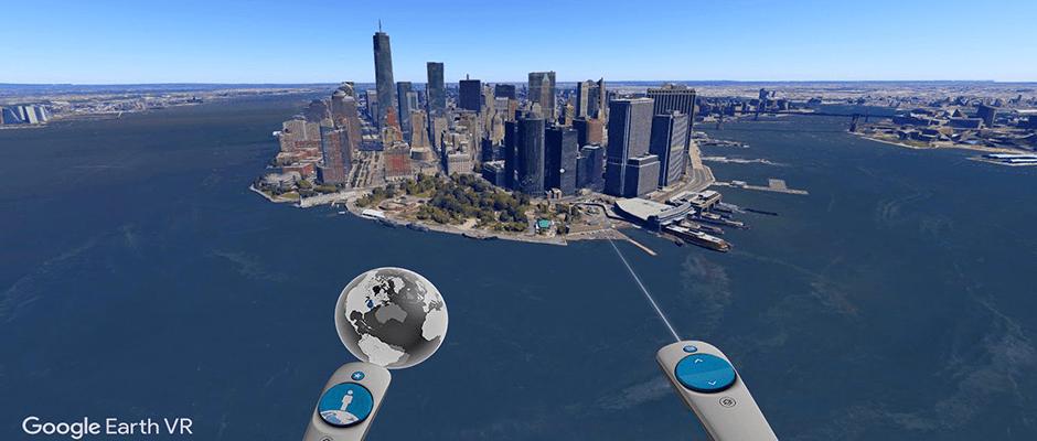 Google Earth em realidade virtual