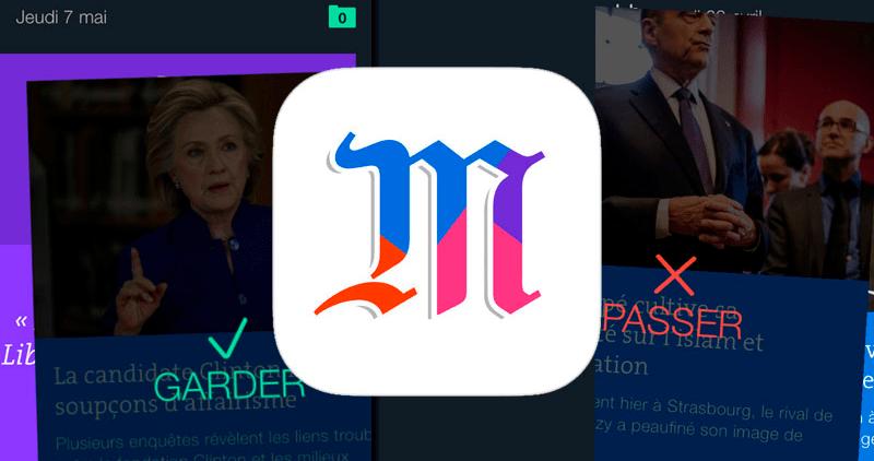 """Le Monde criou o """"Tinder"""" das notícias"""