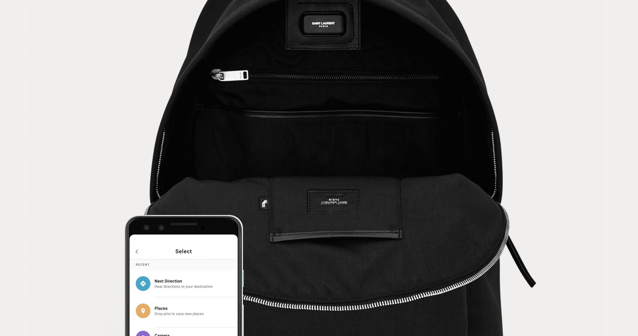 Yves Saint Laurent e Google criam mochila conectada