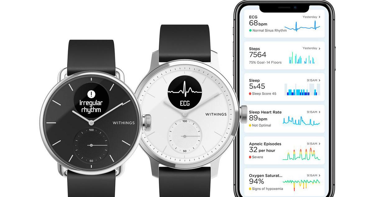 Withings: smartwatch para detetar apneia do sono