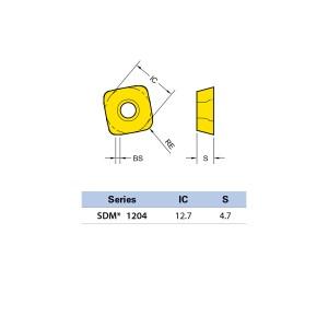 Plăcuță amovibilă pentru frezare SDMW