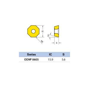 Plăcuță amovibilă pentru frezare ODMT 060508