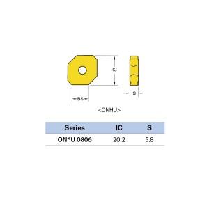 Plăcuță amovibilă pentru frezare ONHU 080612