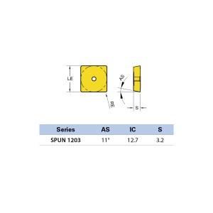 Plăcuță amovibilă pentru frezare SPUN 120308