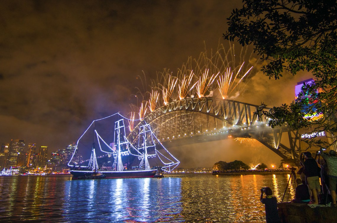 feu d'artifice nouvel an sydney mary booth reserve