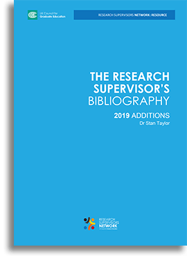 Research Supervisor's Bibliography 2019 Additions