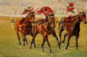One of my paintings of a horse race