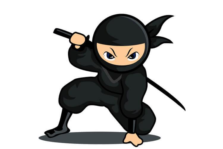 comme un ninja glisser un lien furtivement