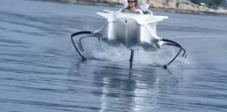 The world's first eco-friendly hovering speedboat