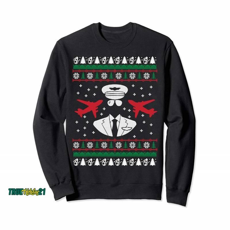 Pilot Ugly Christmas Sweater Gift Sweatshirt | Lesburg