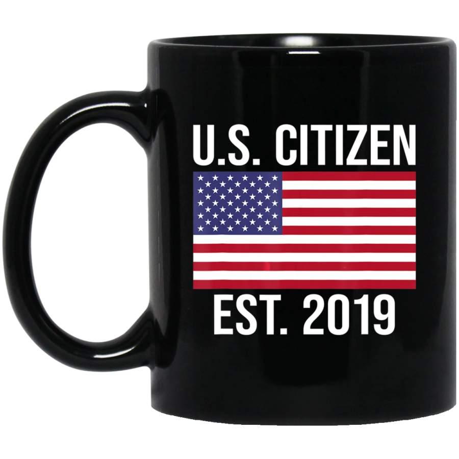 U.S. Citizen American Flag Established 2019 Coffee Mug
