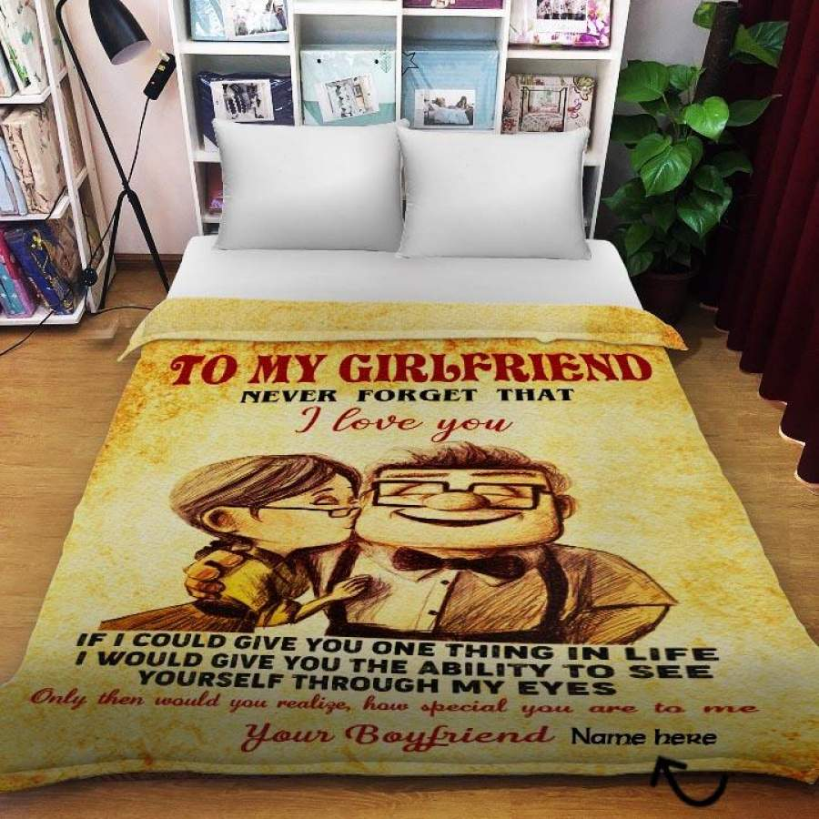 UP Carl Ellie To My Love You Fleece Blanket 30x40 and 50x60 and 60x80 Made In US