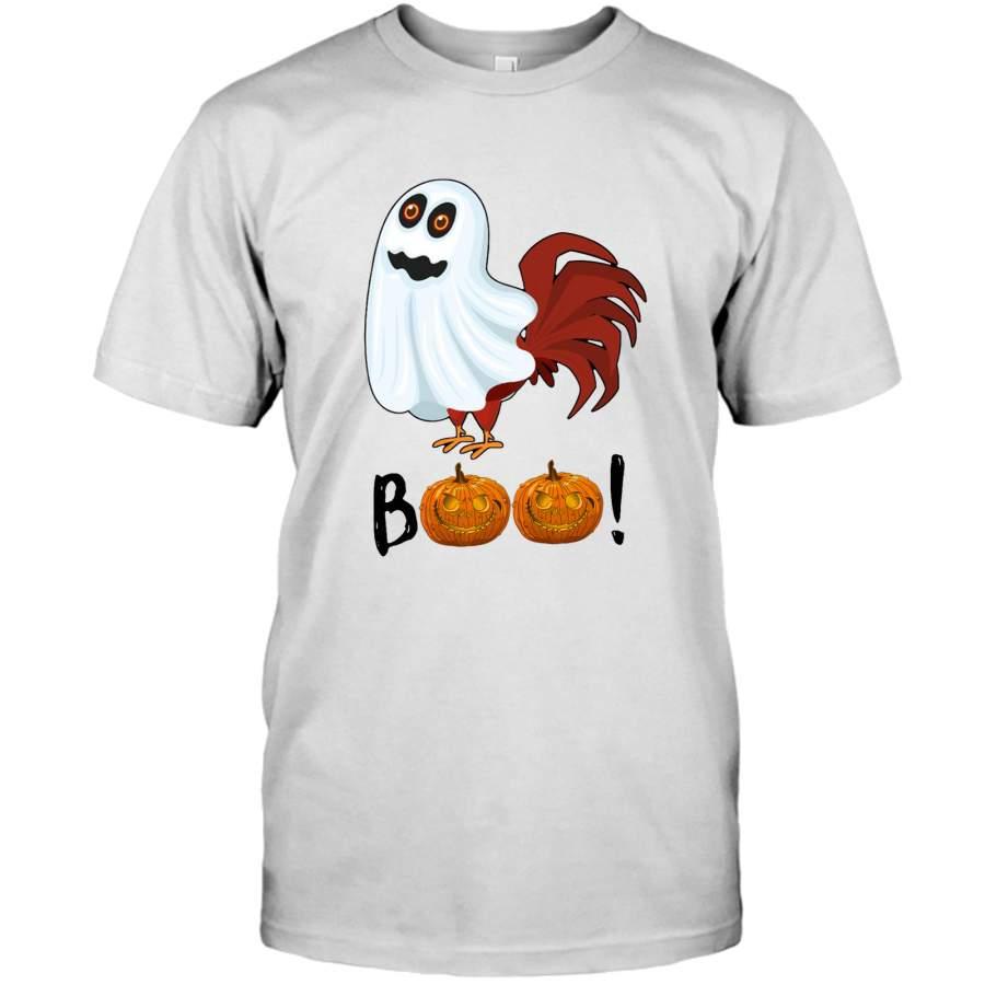 Chicken Ghost Boo Pumpkin Funny Halloween Gift Tee Shirt
