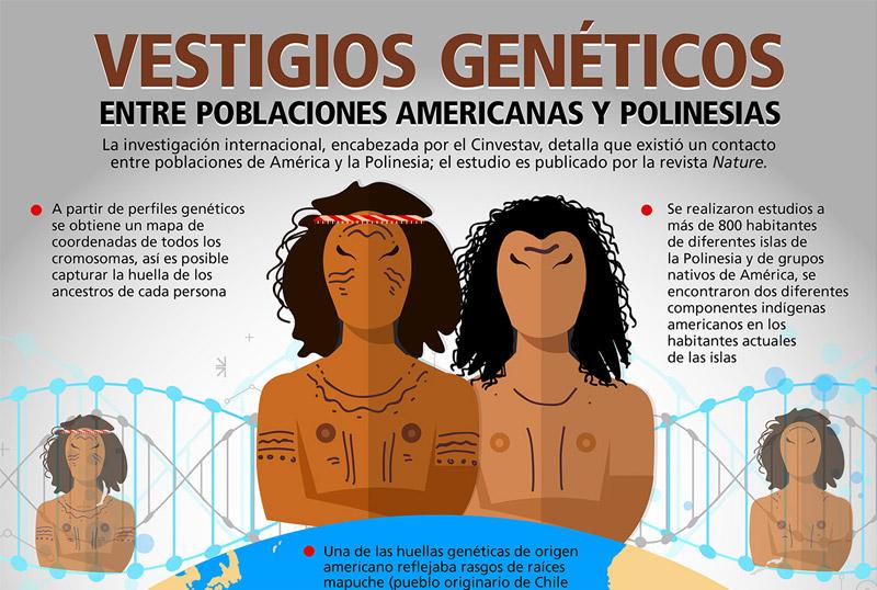 Hallan vestigios genéticos de poblaciones indígenas americanas en poblaciones polinesias en investigación encabezada por el Cinvestav