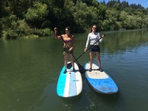 Friends on the water