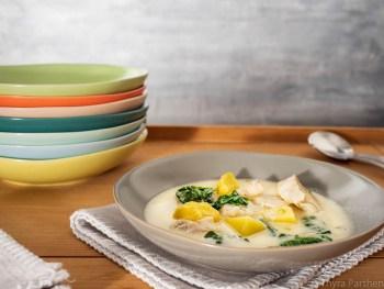 Kabeljau-Topf mit Kartoffeln und Spinat
