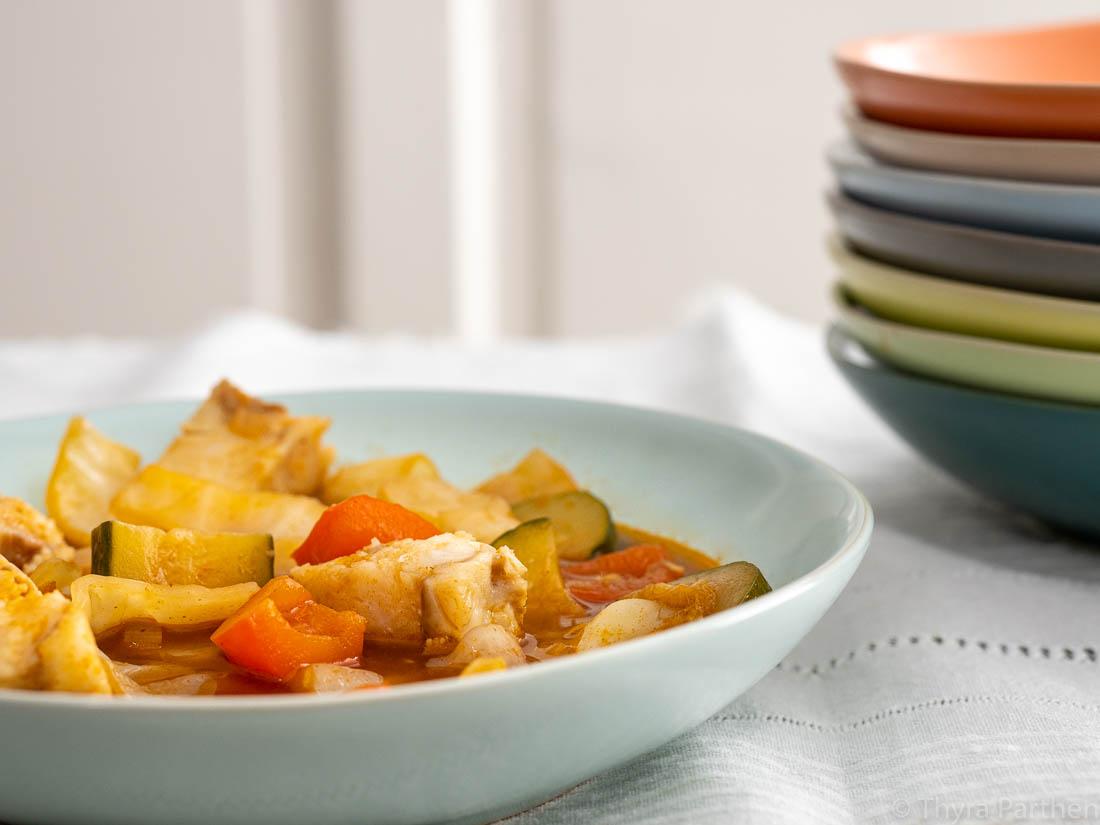 Fisch-Suppe mit Weißkraut
