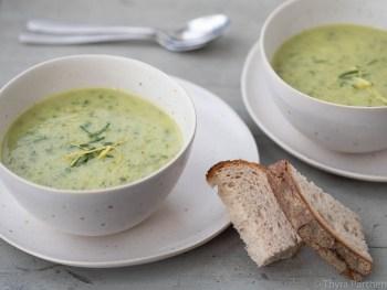 Zucchini-Basilikum-Suppe