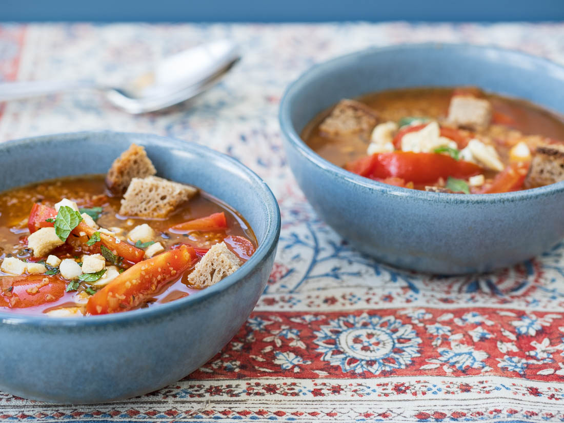 Tomaten-Paprika-Eintopf mit Bulgur