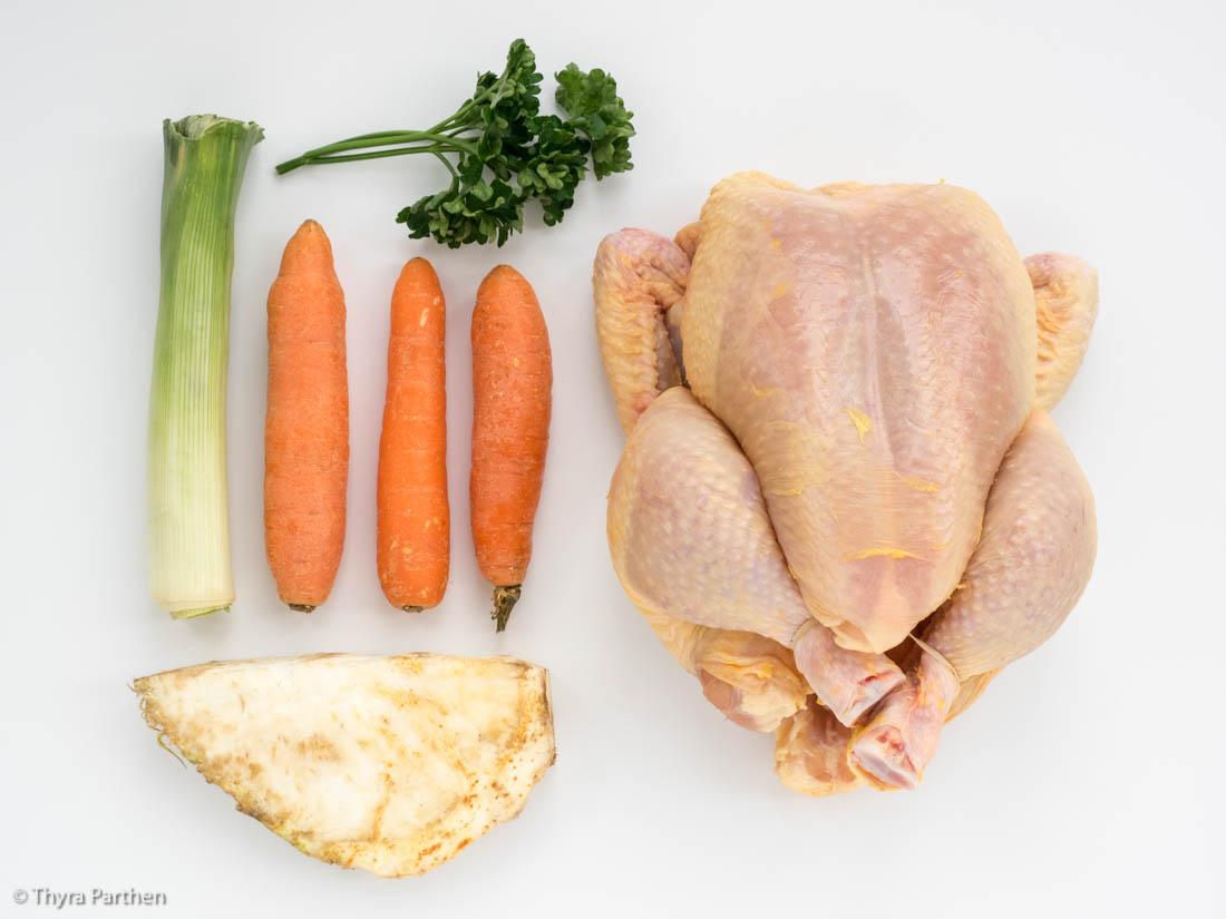 Hühnerbrühe selber kochen (europäische Art)