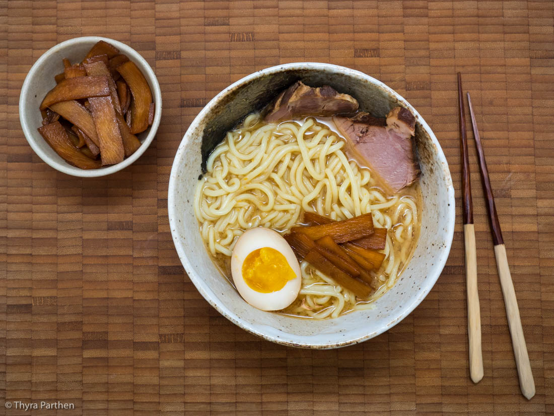 Miso-Ramen Spezial mit Chashu, Menma und Ajitsuke Tamago