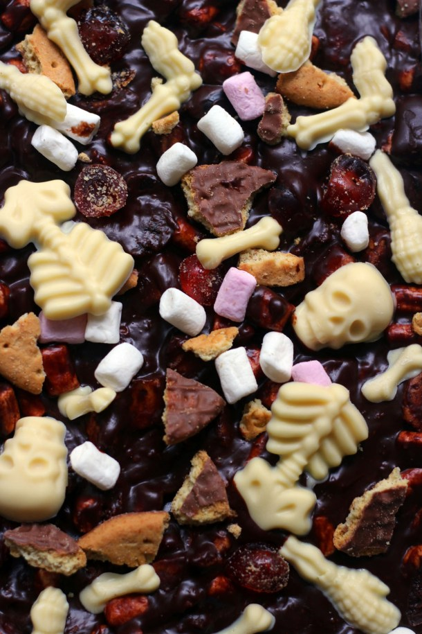 Spooky Rocky Road from Supper in the Suburbs - the perfect sweet treat for Halloween