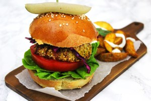 These Carrot Coriander and Chickpea Burgers make a great vegetarian lunch or dinner! Ideal for those veggies who are sick of Mexican bean burgers and fake meat! Get the recipe from Supper in the Suburbs.