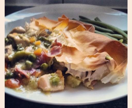 Mustard Chicken and Vegetable Pie