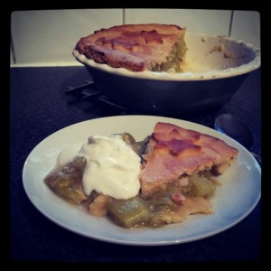 Rhubarb and Ginger Pie