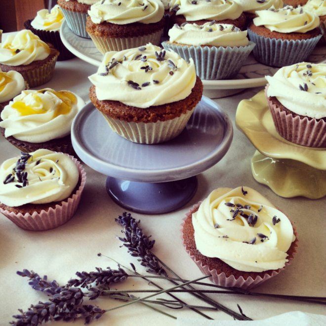 Lavender and Honey Cupcakes